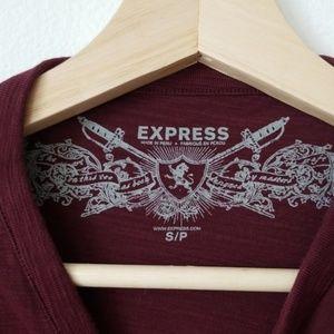 Express Shirts - Express Henley Tee Long Sleeve